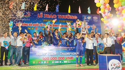 Becamex Bình Dương lần thứ 6 lên ngôi vô địch BTV Cup