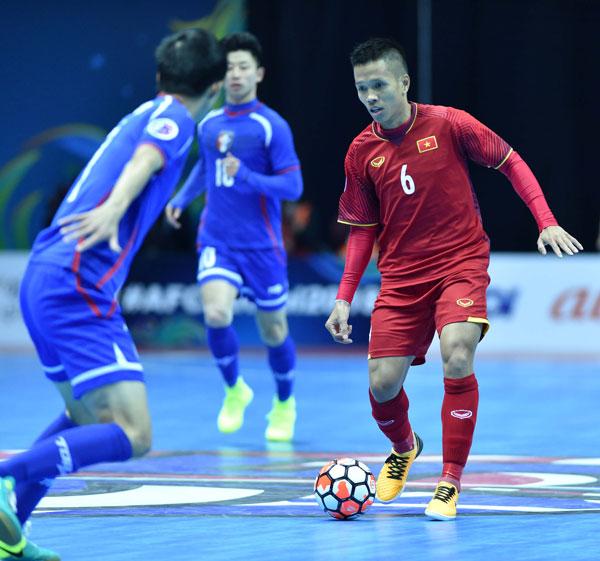 VCK Futsal châu Á 2018: Đánh bại Đài Bắc (TH) 3-1, Việt Nam giành trọn 3 điểm