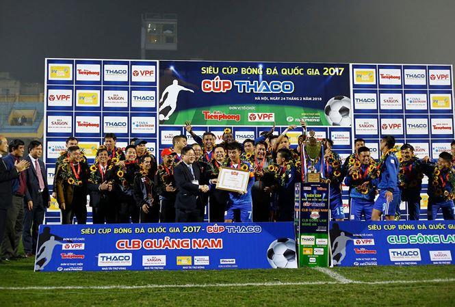 CLB Quảng Nam đoạt Siêu Cup QG - Cúp Thaco 2017