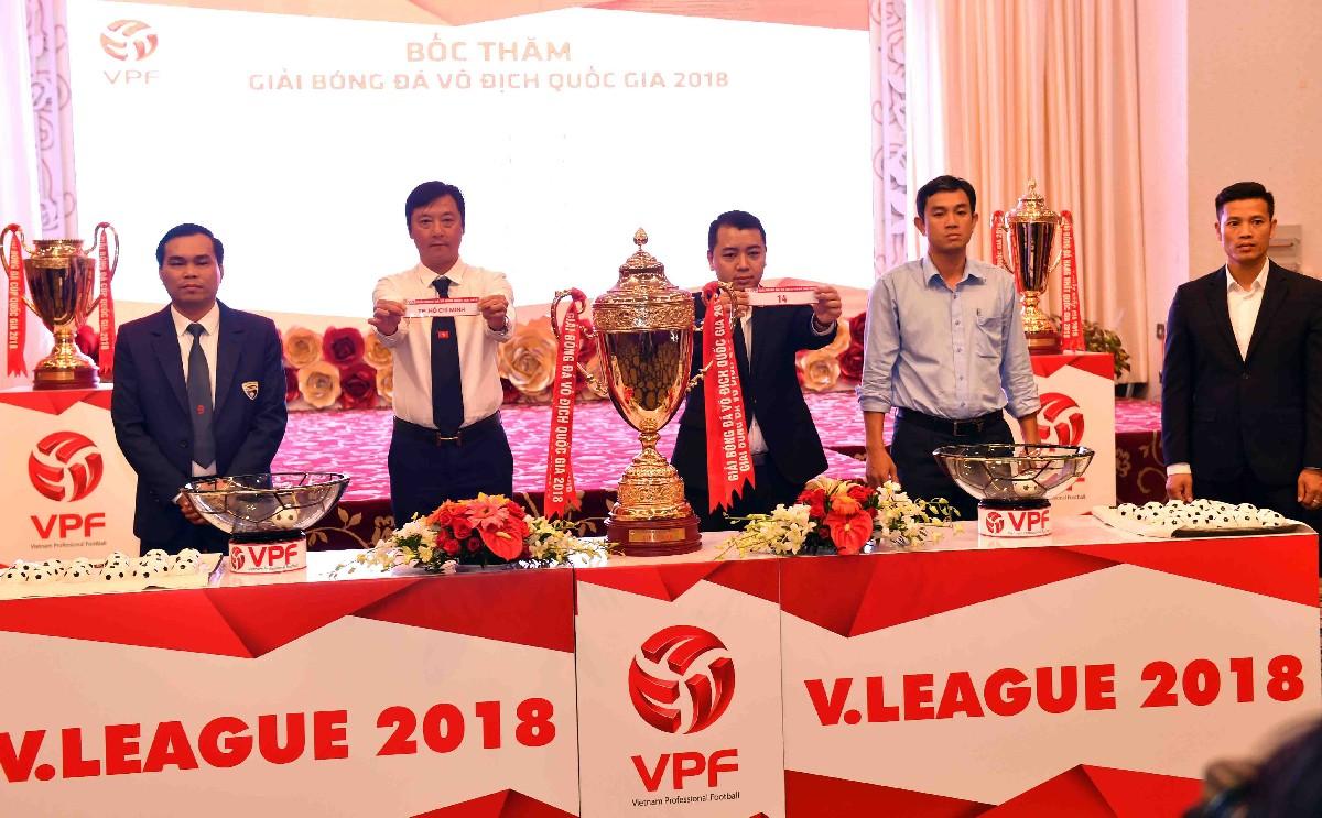 Lịch thi đấu lượt đi Giải Bóng đá Vô địch Quốc gia Nuti Café 2018