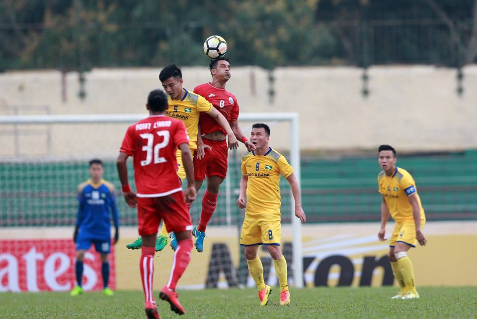 AFC Cup 2018 (bảng H): Chơi thiếu người, SLNA bị đối thủ Persija Jakarta cầm hòa
