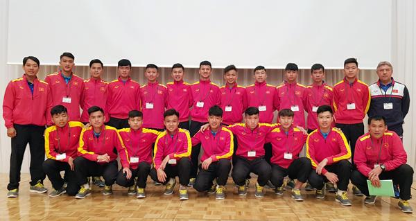 Chiều nay (7/3), U16 Việt Nam bước vào buổi tập đầu tiên tại Nhật Bản