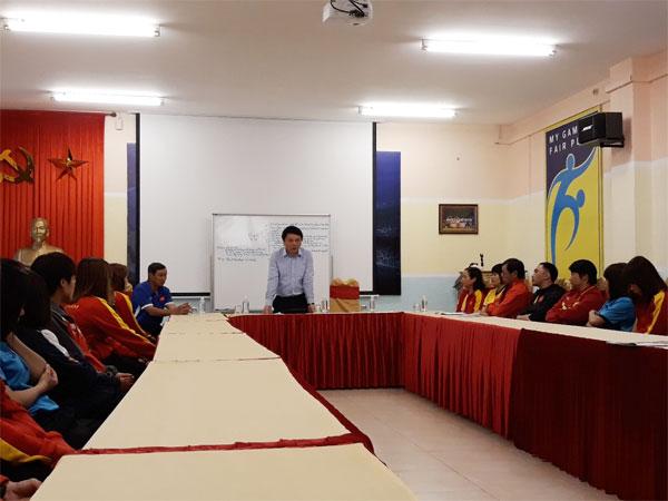 Lãnh đạo LĐBĐVN gặp mặt đội tuyển nữ Quốc gia trước khi sang Đức tập huấn