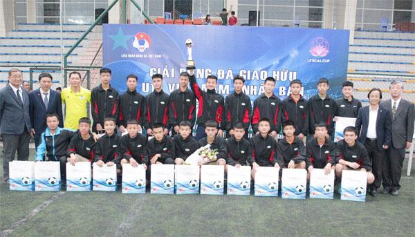 Viettel vô địch giải bóng đá giao hữu quốc tế U15 Việt Nam - Nhật Bản