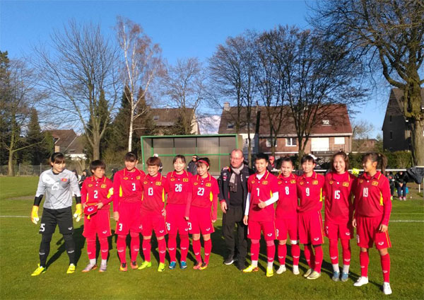 Thi đấu giao hữu (29/3), ĐT nữ Việt Nam vs CLB Borussia Mönchengladbach: 11-0
