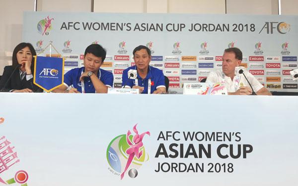 VCK Asian Cup nữ 2018 (bảng B): Phát biểu trước trận Việt Nam vs Australia