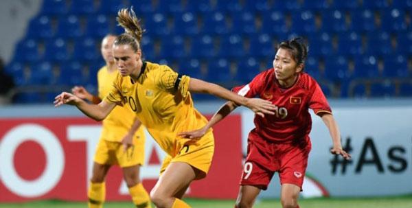 VCK Asian Cup nữ 2018 (bảng B), Việt Nam - Australia: 0-8