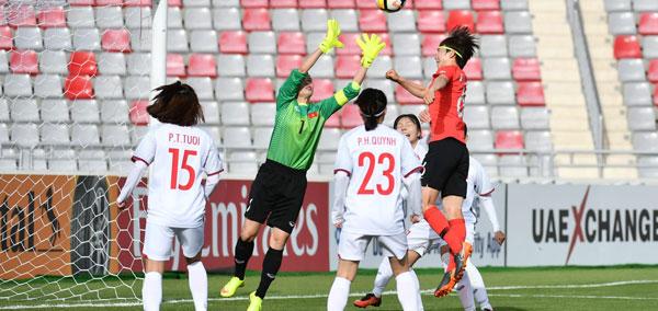 Thua Hàn Quôc 0-4, Việt Nam dừng bước tại VCK Asian Cup nữ 2018
