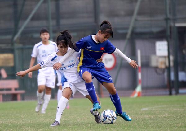 Đấu tập (19/4), Đội tuyển U16 nữ QG - Đội nữ Hà Nội III: 2-1