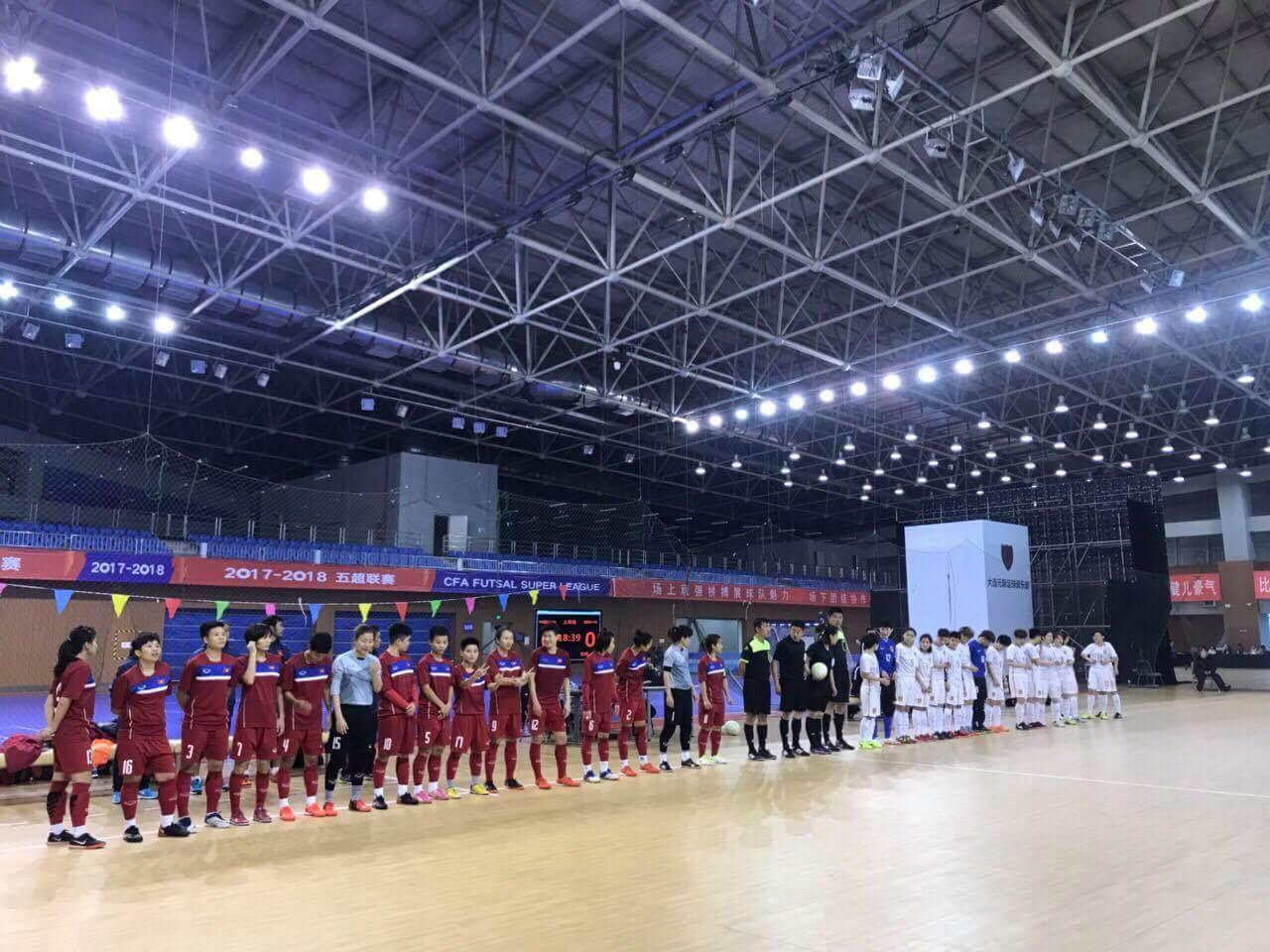Hướng tới VCK Futsal nữ châu Á 2018: ĐT Futsal nữ Việt Nam hòa 3-3 ĐT Futsal nữ Trung Quốc trong trận tái đấu