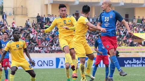 Thua 2-3 trên sân Johor, SLNA hẹp cửa đi tiếp tại AFC Cup 2018