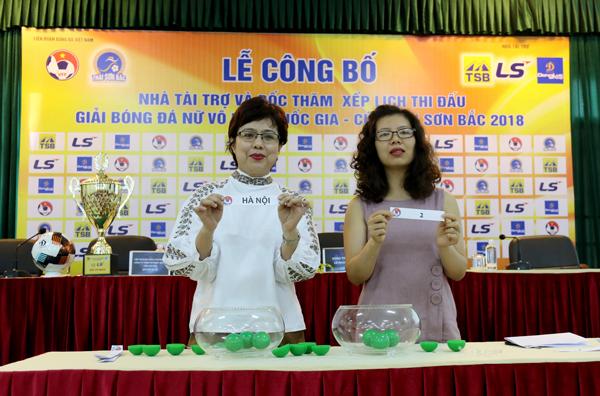 Công bố Nhà tài trợ và bốc thăm xếp lịch thi đấu giải BĐ nữ VĐQG – Cúp Thái Sơn Bắc 2018