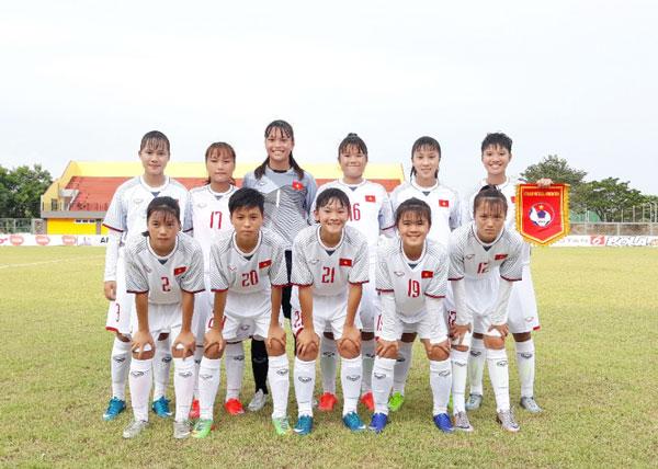 Giải BĐ U16 nữ ĐNA 2018 (bảng A): ĐT U16 nữ Việt Nam có chiến thắng đầu tiên