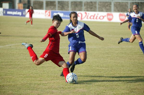 Giải BĐ U16 nữ Đông Nam Á 2018 (bảng A), Việt Nam vs Philippines: 3-0