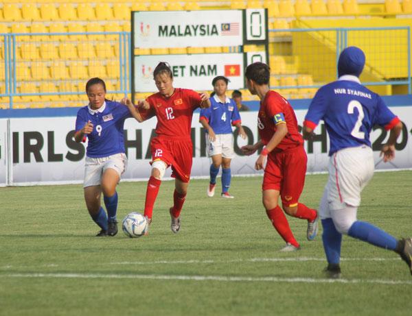 Thắng Malaysia 1-0, Việt Nam vào chơi bán kết giải U16 nữ Đông Nam Á 2018
