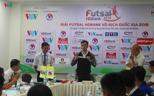 Bốc thăm xếp lịch thi đấu giai đoạn 2 Giải Futsal VĐQG HDBank 2018
