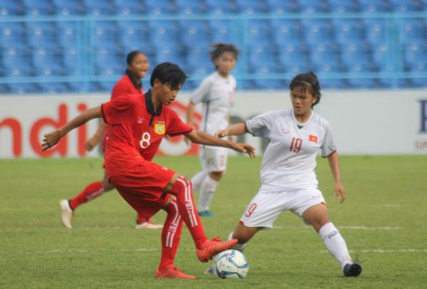 Việt Nam giành Huy chương Đồng giải bóng đá U16 nữ Đông Nam Á 2018