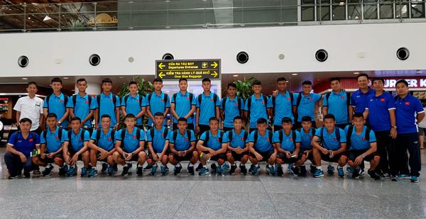 ĐT U19 Việt Nam lên đường tập huấn tại Học viện bóng đá Quảng Châu Evergrande