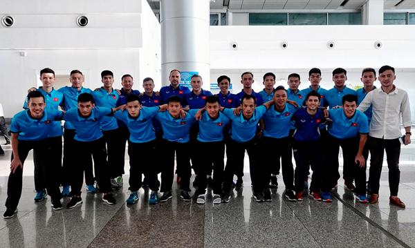 ĐT Futsal Việt Nam lên đường dự Giải futsal quốc tế CFA 2018