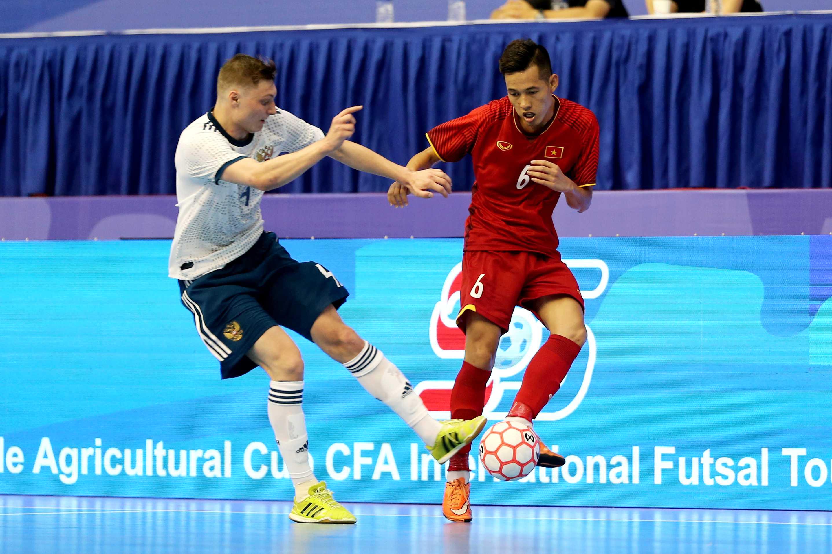Tuyển Futsal Việt Nam 2 lần đưa bóng vào lưới Á quân World Cup Nga