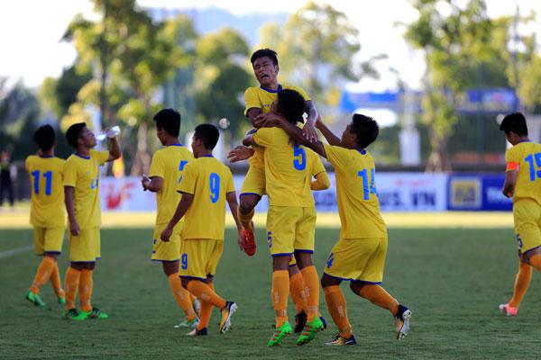 Sông Lam Nghệ An và Viettel gặp nhau tại trận chung kết giải U17 Quốc gia - Cúp Thái Sơn Nam 2018