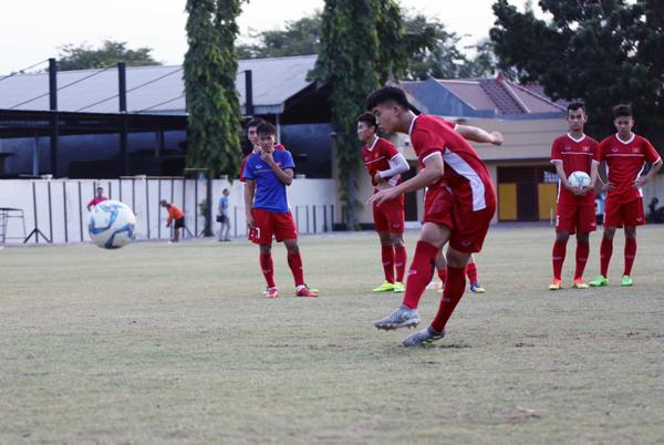 U19 Việt Nam chuẩn bị cho trận gặp Lào với sự tự tin và tôn trọng đối thủ