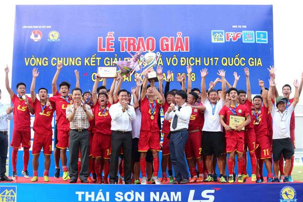 CHUNG KẾT U17 QUỐC GIA – CÚP THÁI SƠN NAM 2018:Viettel lần đầu vô địch