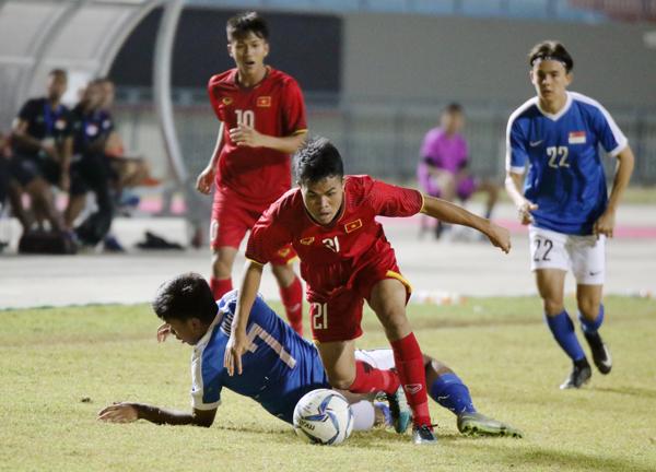 Hòa Singapore 2-2, U19 Việt Nam chia tay giải U19 Đông Nam Á 2018