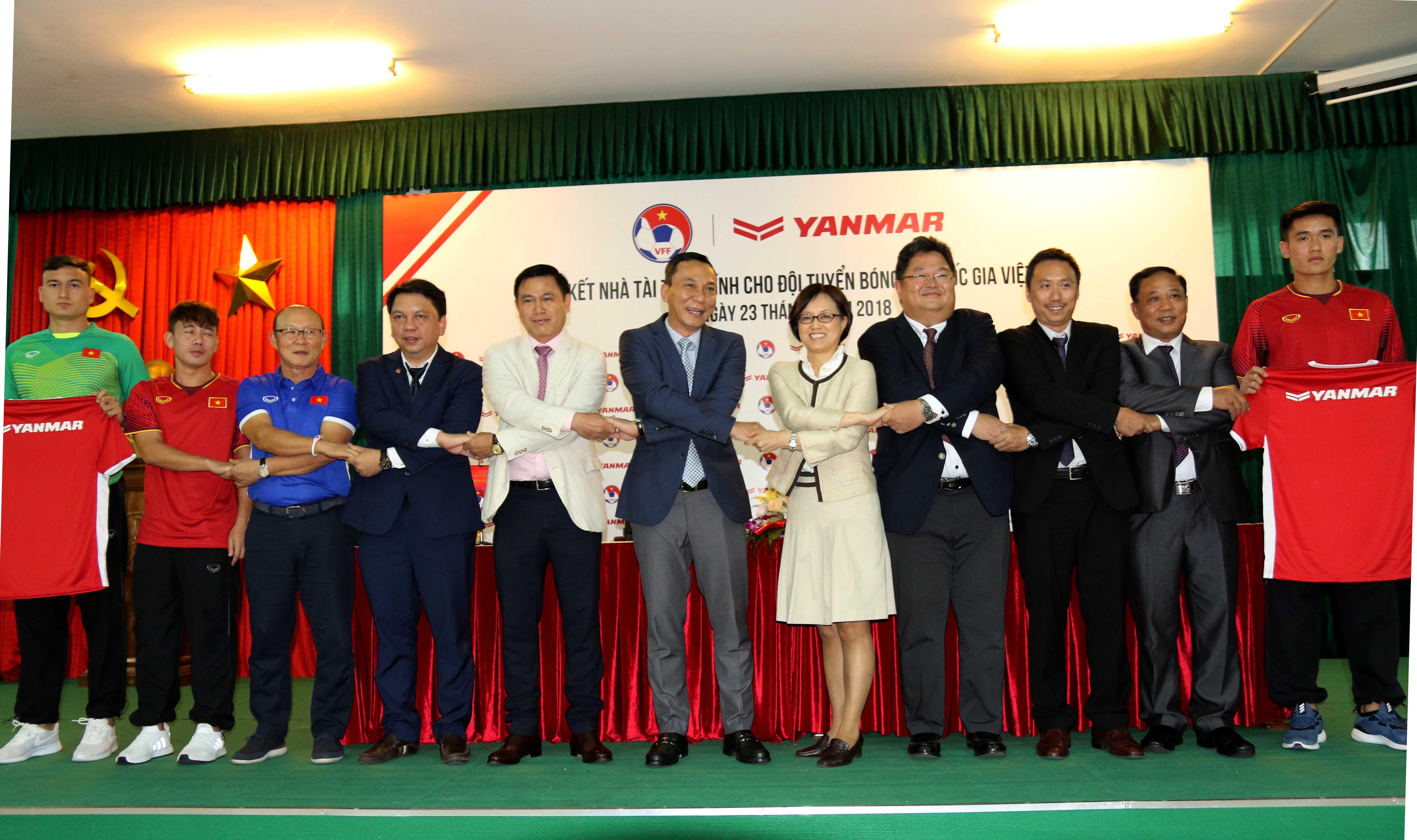 Yanmar tiếp tục là Nhà tài trợ chính của ĐTQG Việt Nam