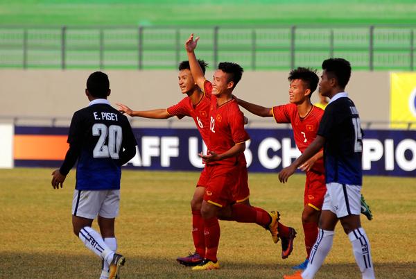 U16 Việt Nam hoàn thành mục tiêu 3 điểm trong trận ra quân tại Giải U16 AFF 2018