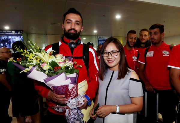 U23 Palestine- đối thủ đầu tiên của U23 Việt Nam đã có mặt tại Hà Nội