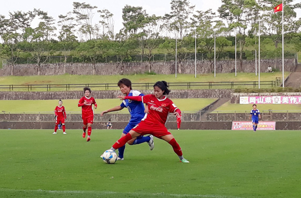 Giao hữu (5/8), ĐT nữ Việt Nam vs CLB nữ Okayama: 0-2