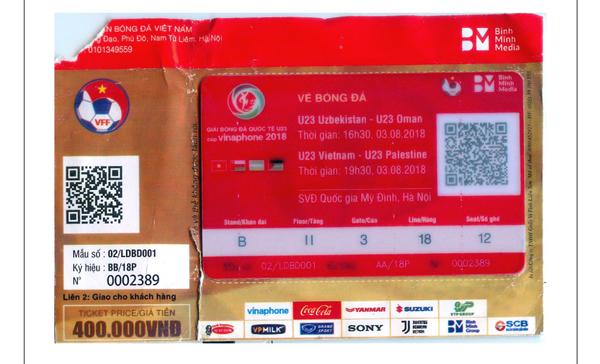 Giải Bóng đá Quốc tế U23 - Cúp Vinaphone 2018: Đã phát hiện vé giả