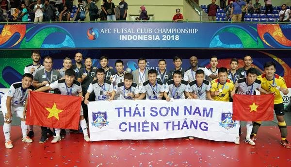 AFC gửi thư chúc mừng các CLB Futsal đoạt thứ hạng tại giải Vô địch các CLB châu Á 2018