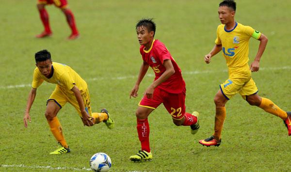 Kết quả lượt trận thứ 1 bảng B VCK giải Bóng đá vô địch U15 Quốc gia - Cúp Thái Sơn Bắc 2018, ngày 13/8: Sanna Khánh Hoà chiếm ngôi đầu
