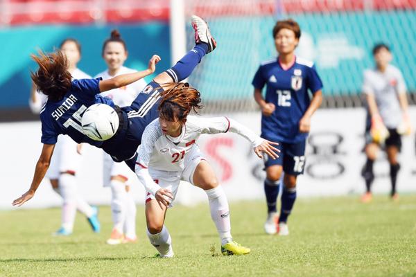 Thua Nhật Bản 0-7, tuyển nữ Việt Nam gặp Đài Bắc Trung Hoa ở tứ kết