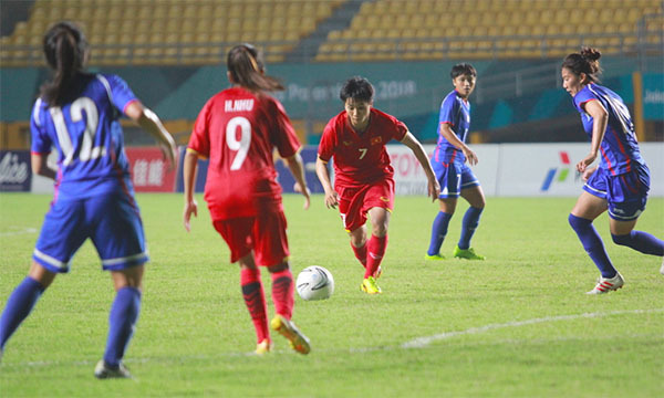 Lãnh đạo VFF động viên đội tuyển nữ sau thất bại tại Tứ kết Asiad 18