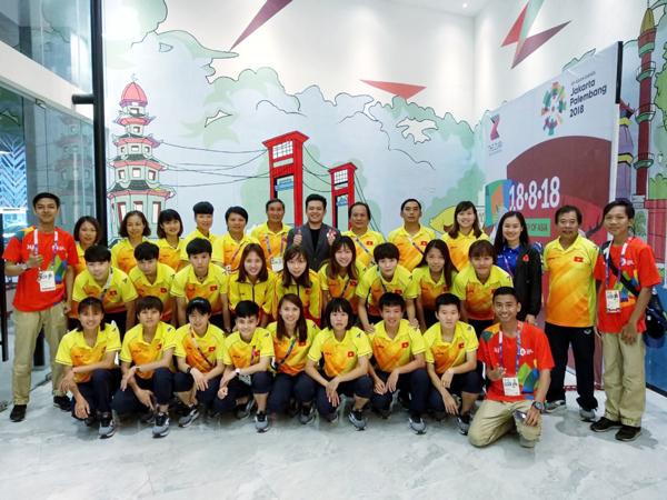 Đội tuyển nữ Việt Nam đã rời Palembang, chia tay Asiad 2018