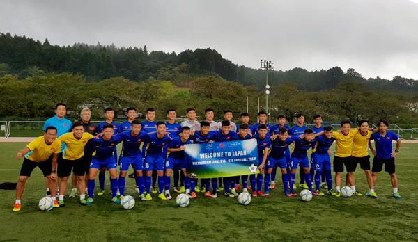 ĐT U16 và U19 Việt Nam trở lại tập luyện sau ảnh hưởng của siêu bão Jebi