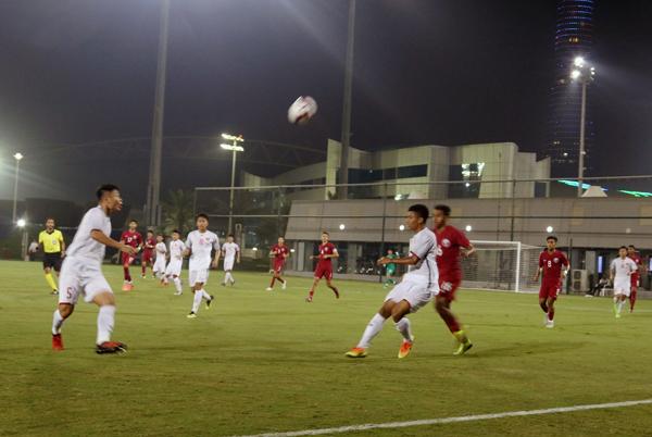 Giải bóng đá quốc tế Cúp Tứ Hùng 2018, U19 Việt Nam - U19 Qatar: 1-4