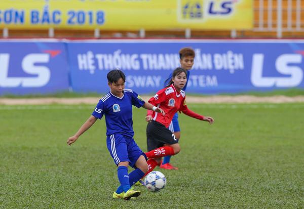 Lượt về giải bóng đá nữ VĐQG - Cúp Thái Sơn Bắc 2018 (18/9): Lội ngược dòng thành công, TNG Thái Nguyên giành trọn 3 điểm