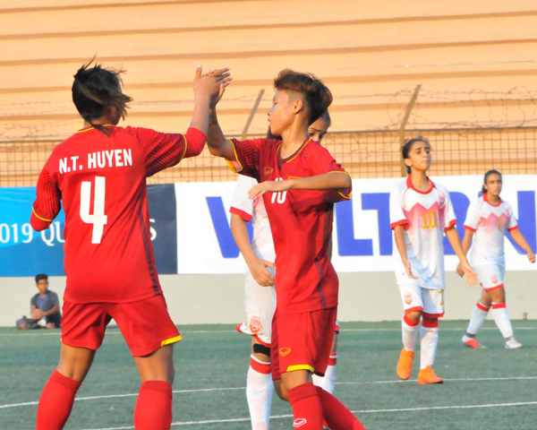 VL thứ nhất U16 nữ châu á 2019 (bảng F), Việt Nam thắng đậm Bahrain 14-0