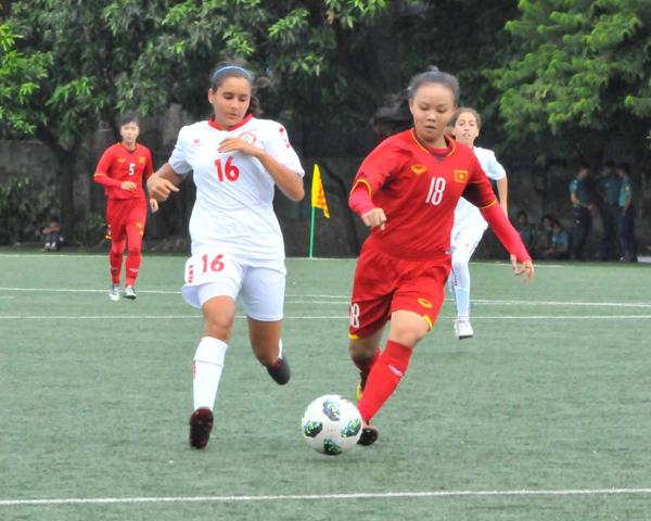 Vòng loại thứ nhất giải bóng đá U16 nữ châu Á 2019 (bảng F): Thắng đậm Li-băng 7-0, Việt Nam rộng cửa đi tiếp