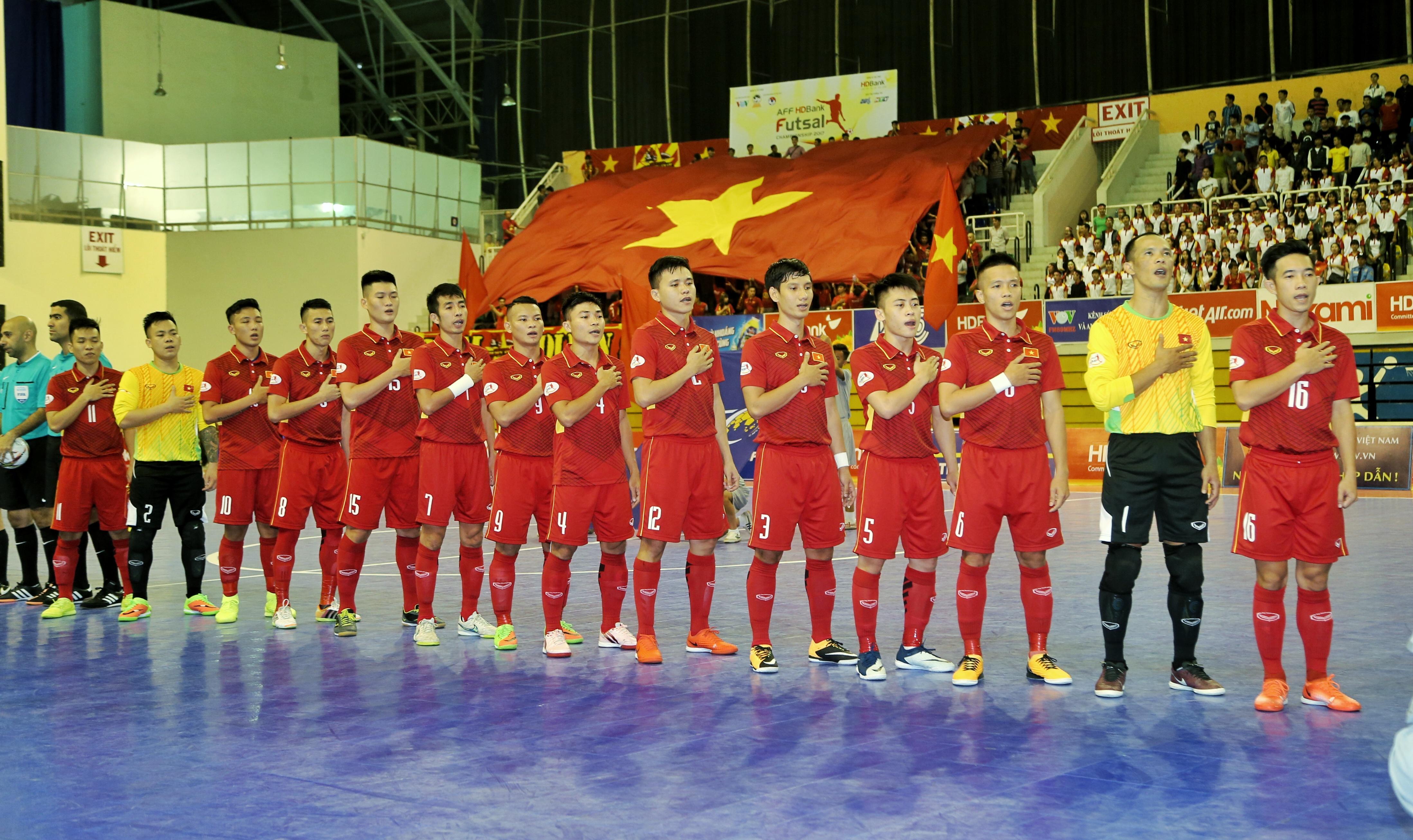 Danh sách ĐT Futsal Việt Nam tập trung chuẩn bị tham dự Giải Đông Nam Á 2018