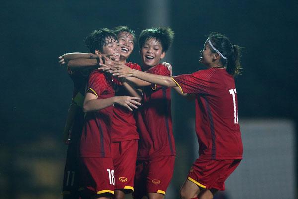 VL thứ nhất U19 nữ châu Á 2019 (bảngE): U19 nữ Việt Nam có chiến thắng đầu tiên