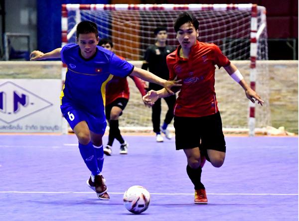 Giao hữu tại Thái Lan, ĐT futsal Việt Nam vs. Highway FC: 2-2