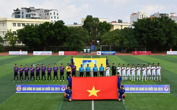 Kết quả lượt trận 2 bảng A giải hạng Ba Quốc gia 2018, ngày 26/10: Hà Nội tiếp mạch thắng