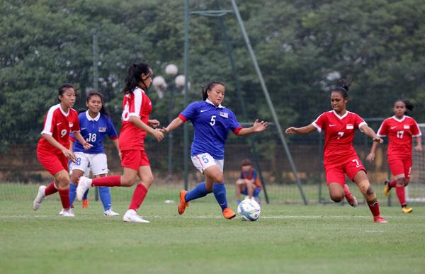 VL thứ nhất U19 nữ châu Á 2019 (bảng E), Singapore – Malaysia: 0-0