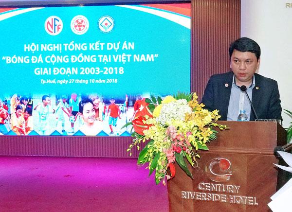Hội nghị tổng kết Dự án bóng đá cộng đồng tại Việt Nam giai đoạn 2003 - 2018
