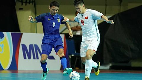 ĐT Việt Nam thua ngược Thái Lan tại lượt trận cuối vòng bảng giải Futsal Đông Nam Á 2018